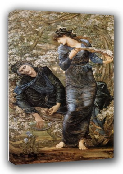 Burne-Jones, Sir Edward Coley: The Beguiling of Merlin. Fine Art Canvas. Sizes: A3/A2/A1 (00453)